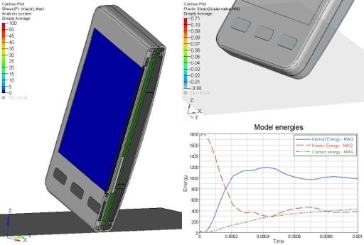 手機落摔分析-2 成功案例 HyperWorks 專業代理 瑞其科技